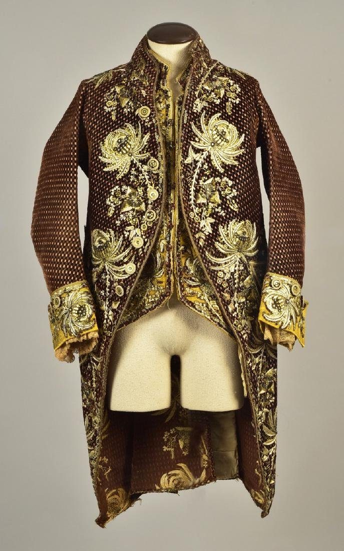 GENTLEMAN'S COAT and WAISTCOAT ENSEMBLE, 1790