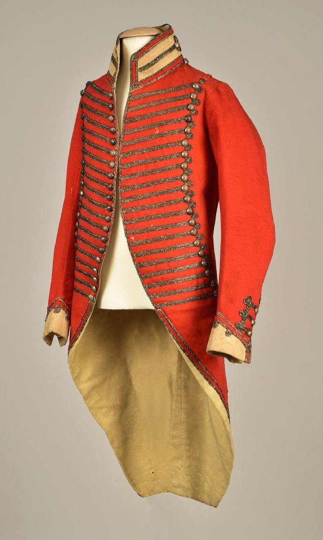RED WOOL MILITARY COAT, LATE 18th C
