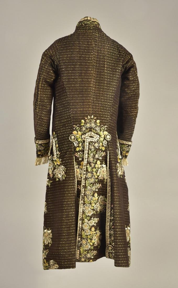 FIGURED VELVET 2-PIECE COURT SUIT, 1780 - 1810 - 2