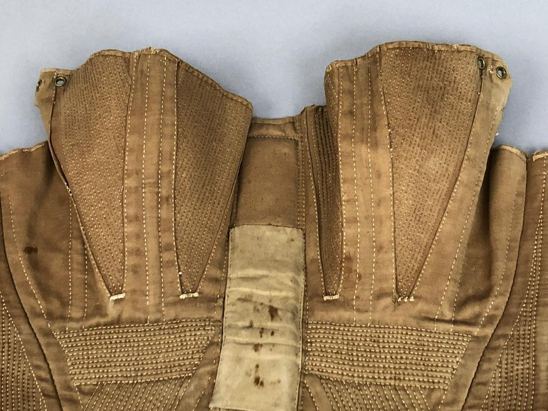 BROWN COTTON SATEEN CORSET, c. 1835 - 2
