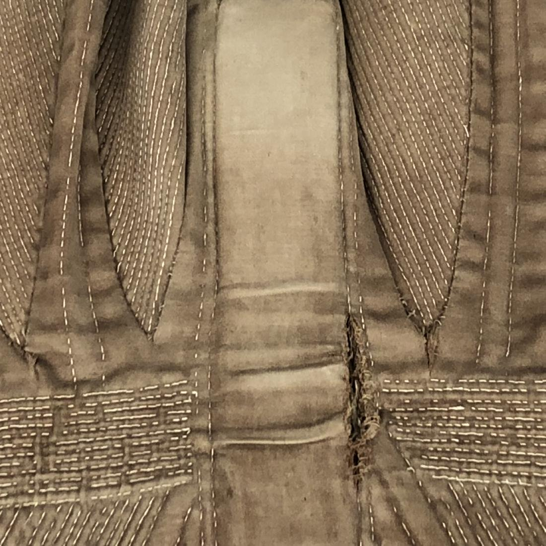 BROWN COTTON SATEEN CORSET, c. 1835 - 6