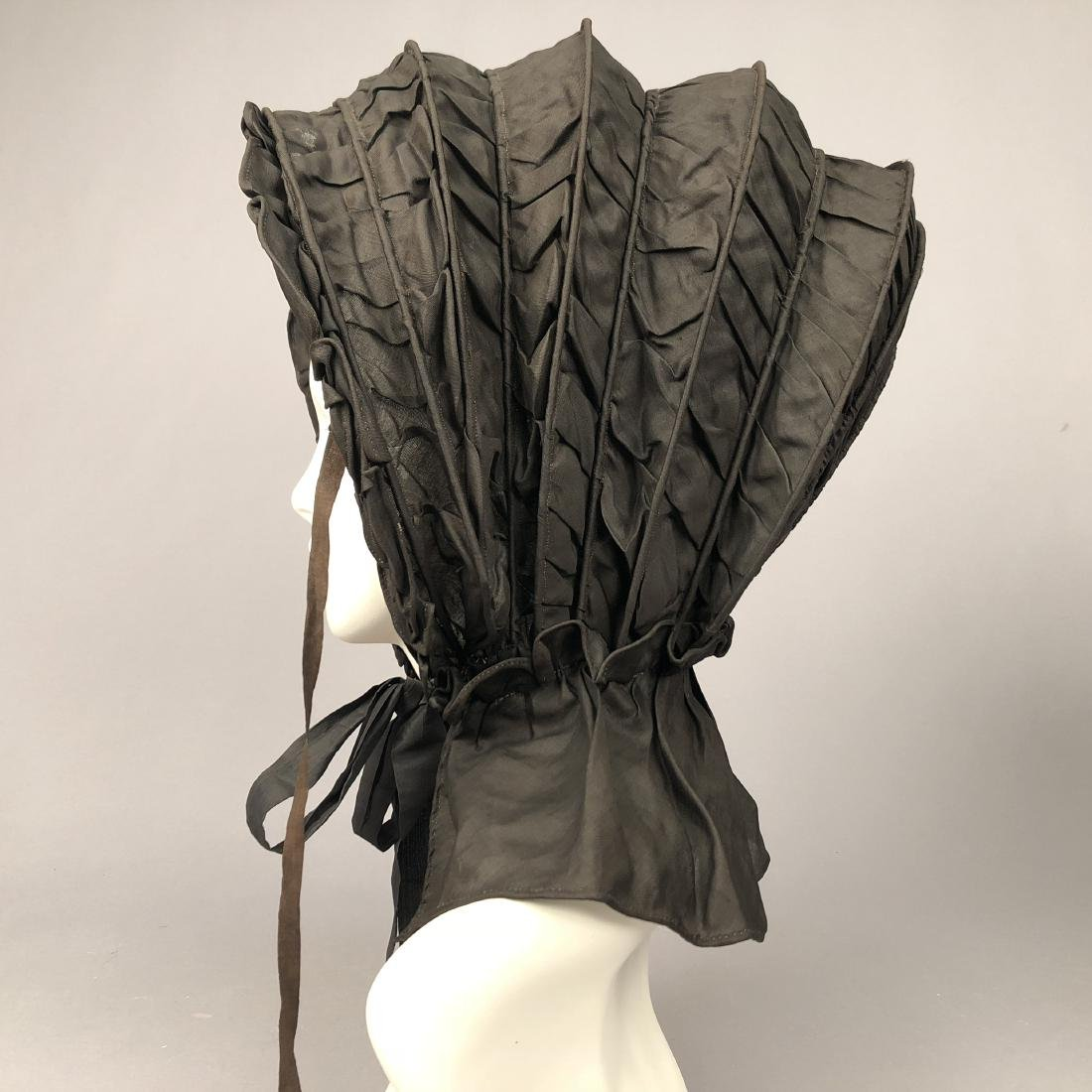 TWO COLLAPSIBLE SILK CALASHES, 1830s - 5
