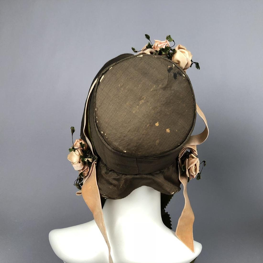 TWO BONNETS with RIBBON TRIM, 1830s - 3