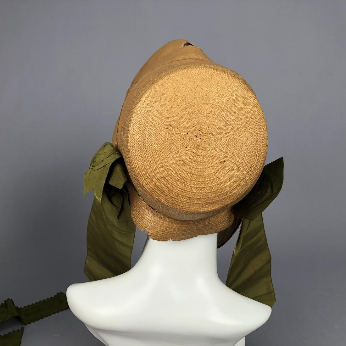 TWO BONNETS with RIBBON TRIM, 1830s - 5