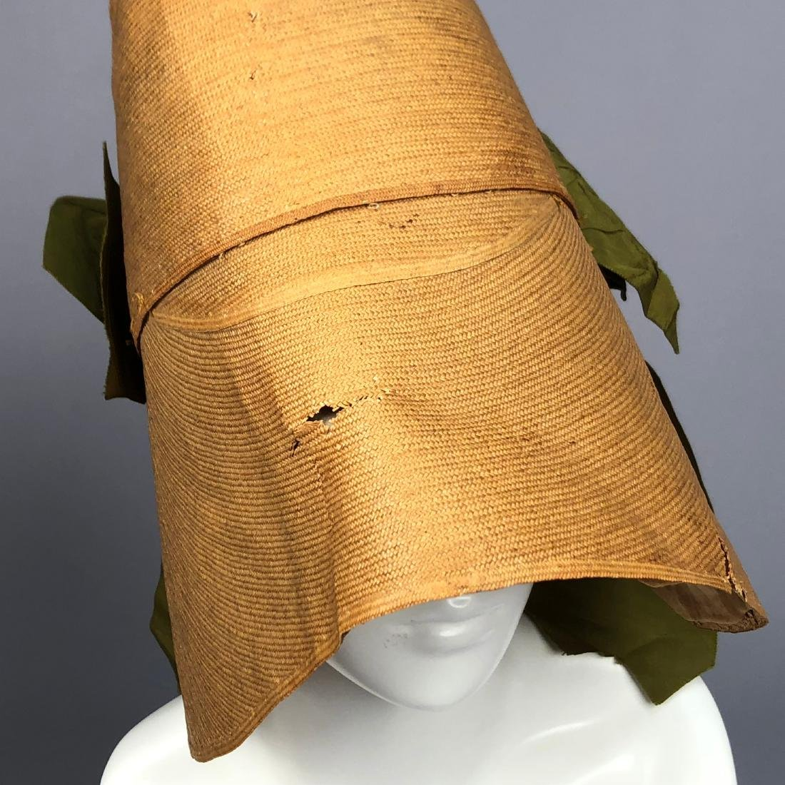 TWO BONNETS with RIBBON TRIM, 1830s - 8