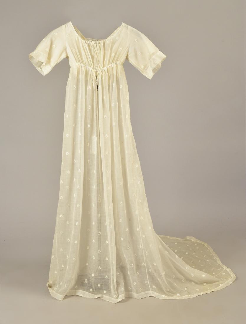 GRACE FLETCHER WEBSTER MUSLIN DRESS, 1805