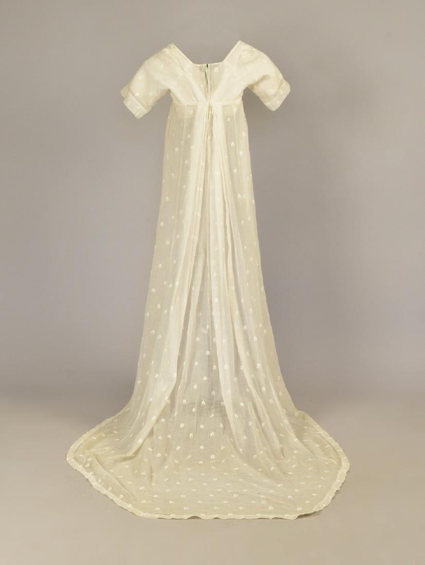 GRACE FLETCHER WEBSTER MUSLIN DRESS, 1805 - 2