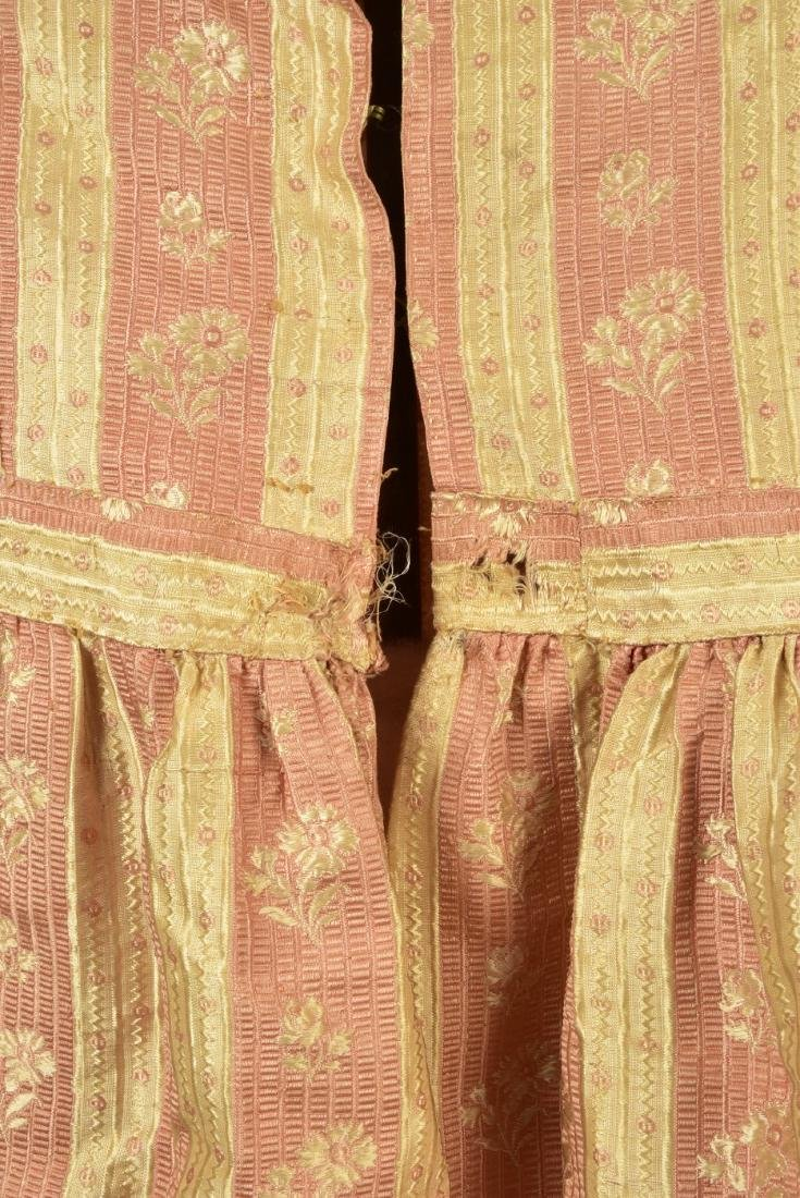 AMERICAN FLORAL STRIPED SILK DRESS, c. 1810 - 3