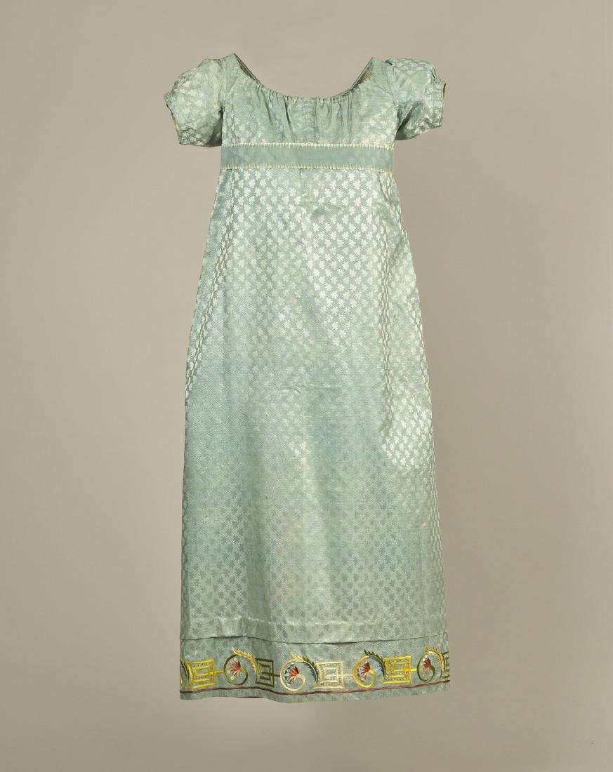 MARIA MONROE'S FRENCH SILK DRESS with EMBROIDERY, 1814