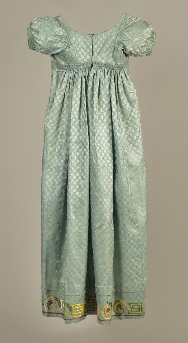 MARIA MONROE'S FRENCH SILK DRESS with EMBROIDERY, 1814 - 2