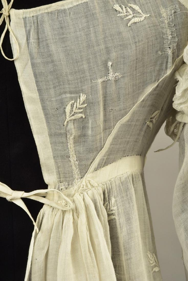 ENGLISH EMBROIDERED MULL DRESS, 1815 - 5