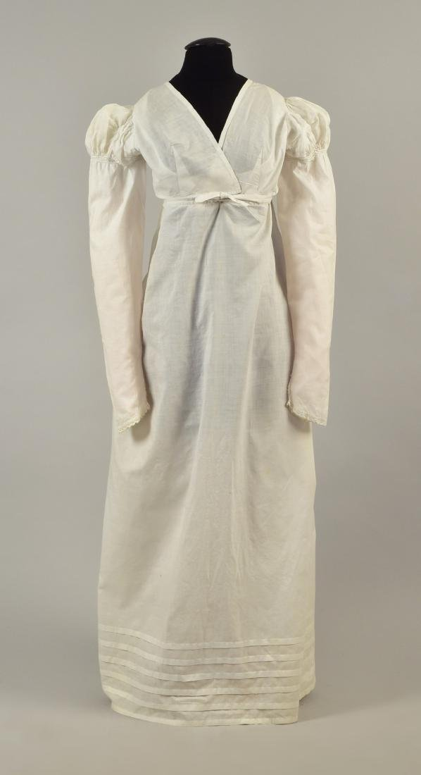 MUSLIN BREAKFAST DRESS with PUFFED SLEEVES, 1815
