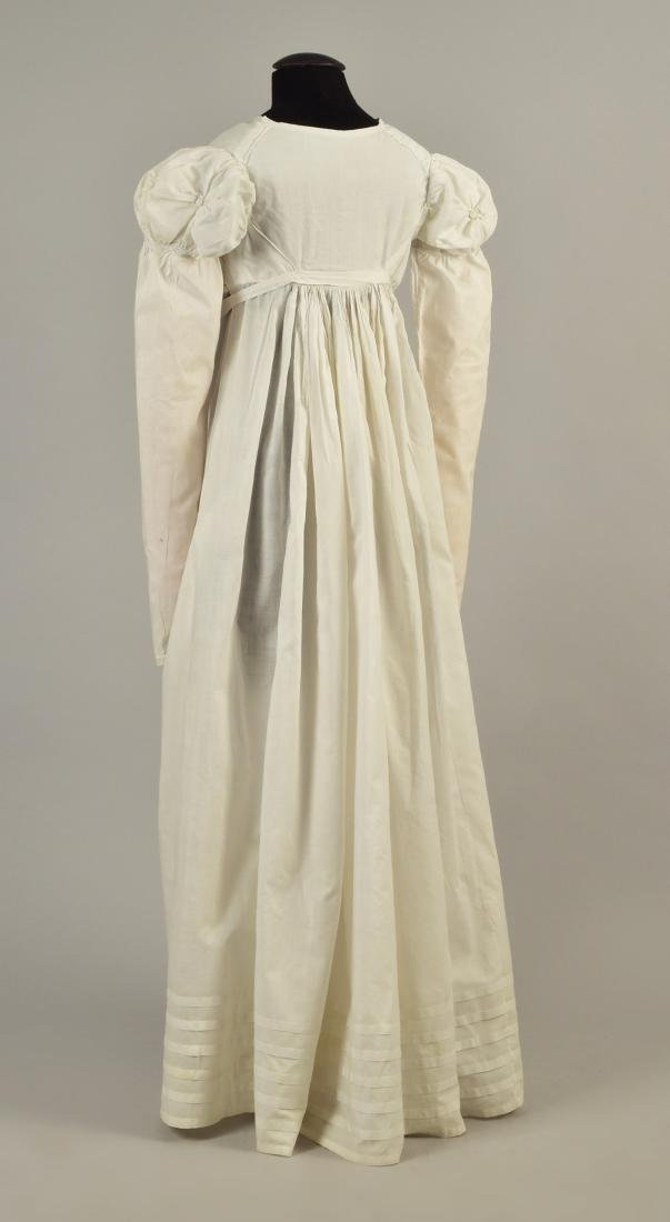 MUSLIN BREAKFAST DRESS with PUFFED SLEEVES, 1815 - 2