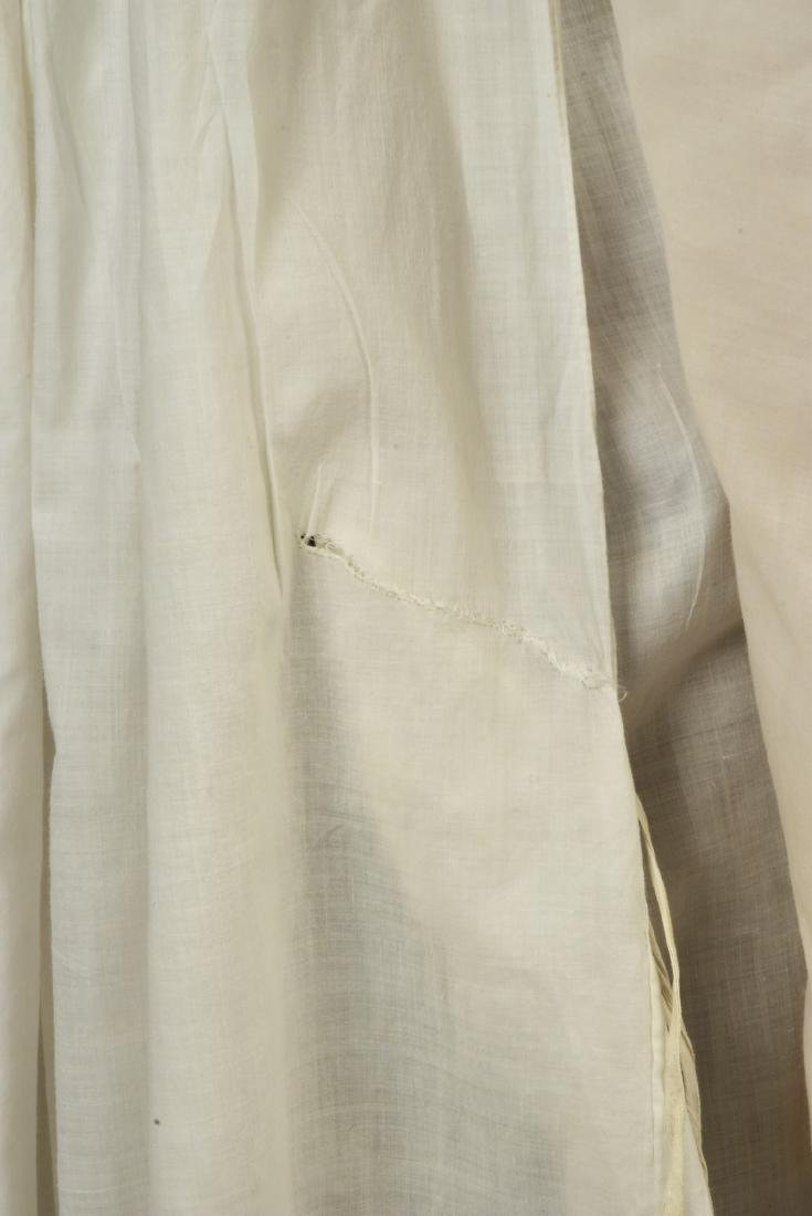 MUSLIN BREAKFAST DRESS with PUFFED SLEEVES, 1815 - 4