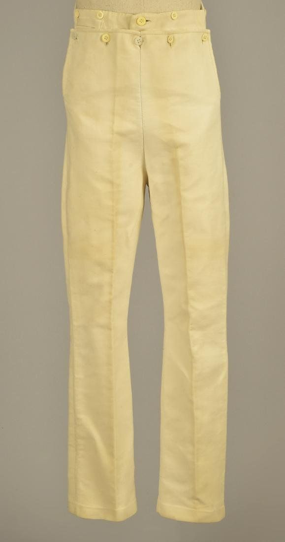 GENTLEMAN'S CREAM COTTON DOESKIN TROUSERS, 1820
