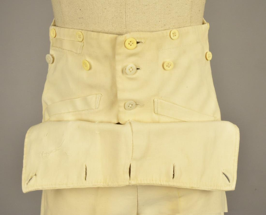 GENTLEMAN'S CREAM COTTON DOESKIN TROUSERS, 1820 - 3
