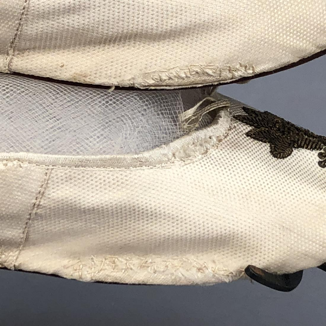 FIGURED SILK SHOES with METALLIC EMBROIDERY, c. 1800 - 2