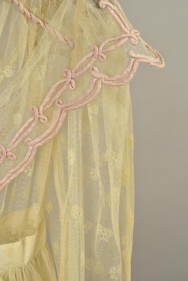 NET DRESS with EMBROIDERY and RIBBON APPLIQUE, 1820 - 2