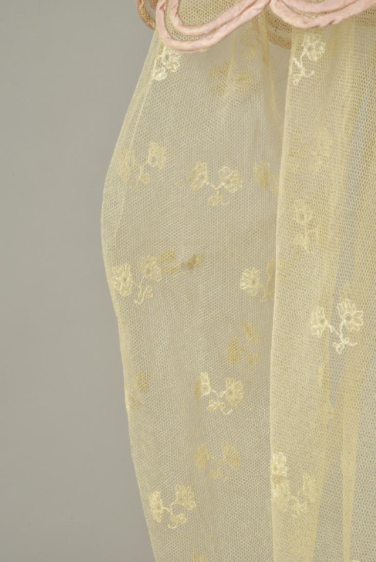 NET DRESS with EMBROIDERY and RIBBON APPLIQUE, 1820 - 3