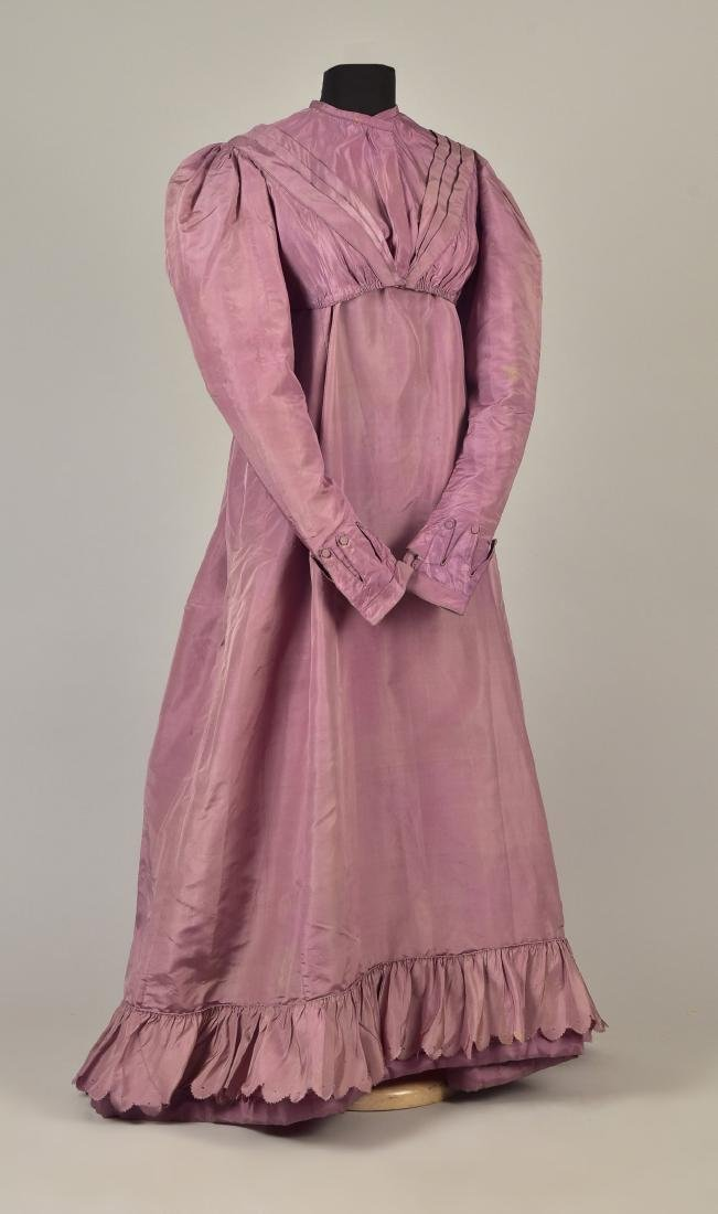 2-PIECE SILK TAFFETA DRESS, c. 1823