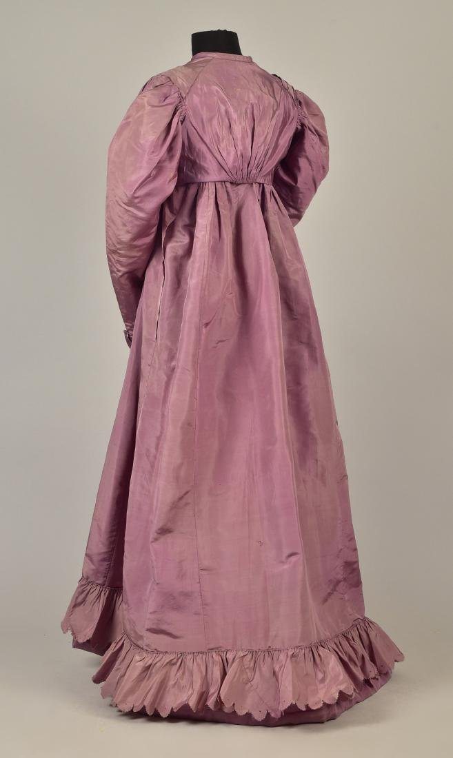 2-PIECE SILK TAFFETA DRESS, c. 1823 - 2