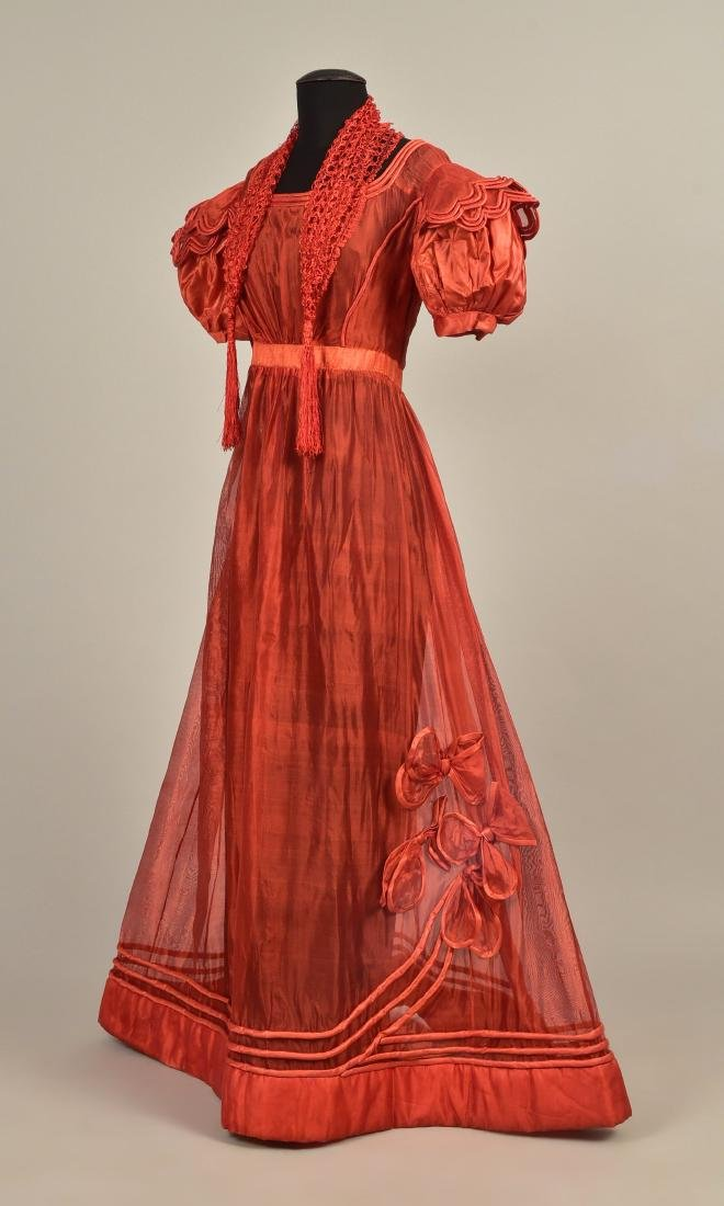 FRENCH GAUZE GOWN with TIPPET, 1828
