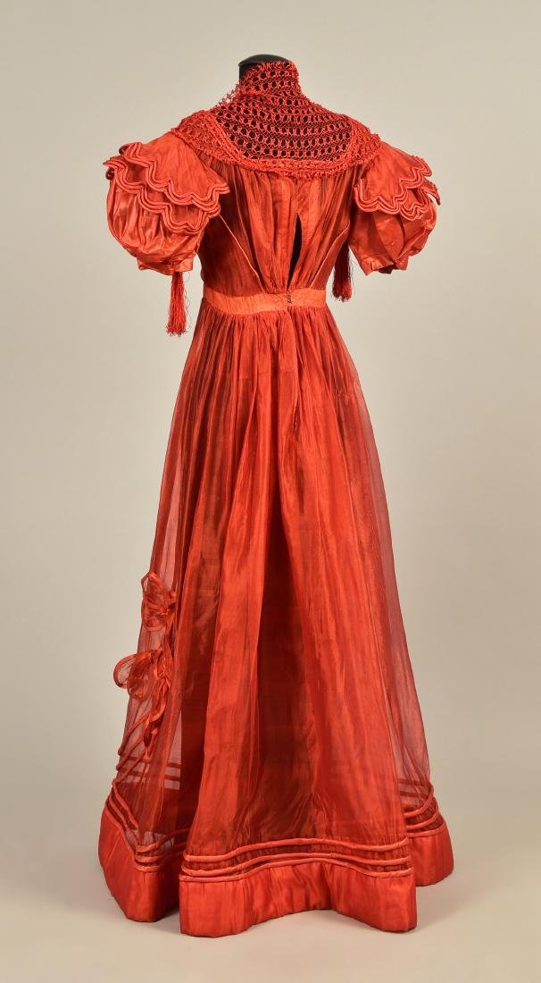 FRENCH GAUZE GOWN with TIPPET, 1828 - 2