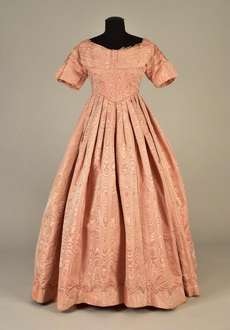 FRENCH MOIRE SILK DRESS, 1839