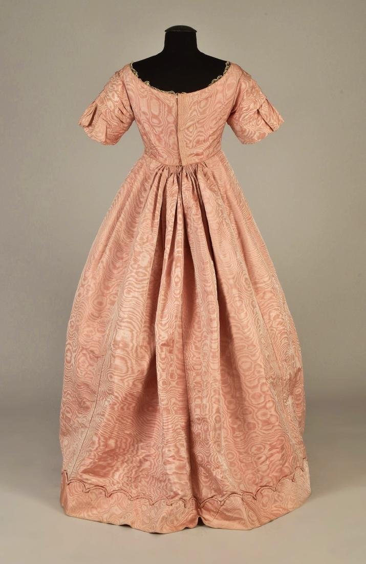 FRENCH MOIRE SILK DRESS, 1839 - 2