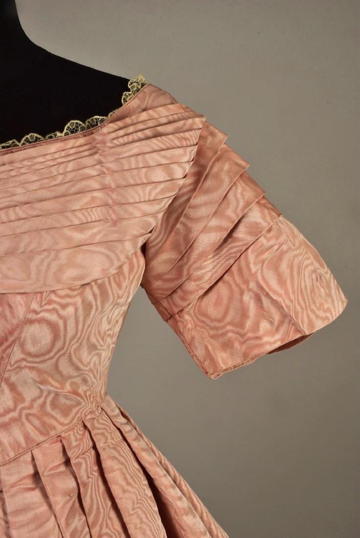 FRENCH MOIRE SILK DRESS, 1839 - 3