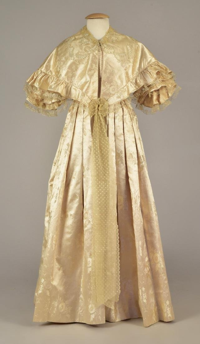LADY JANE ERSKINE'S SILK WEDDING GOWN and PELLERINE, c.