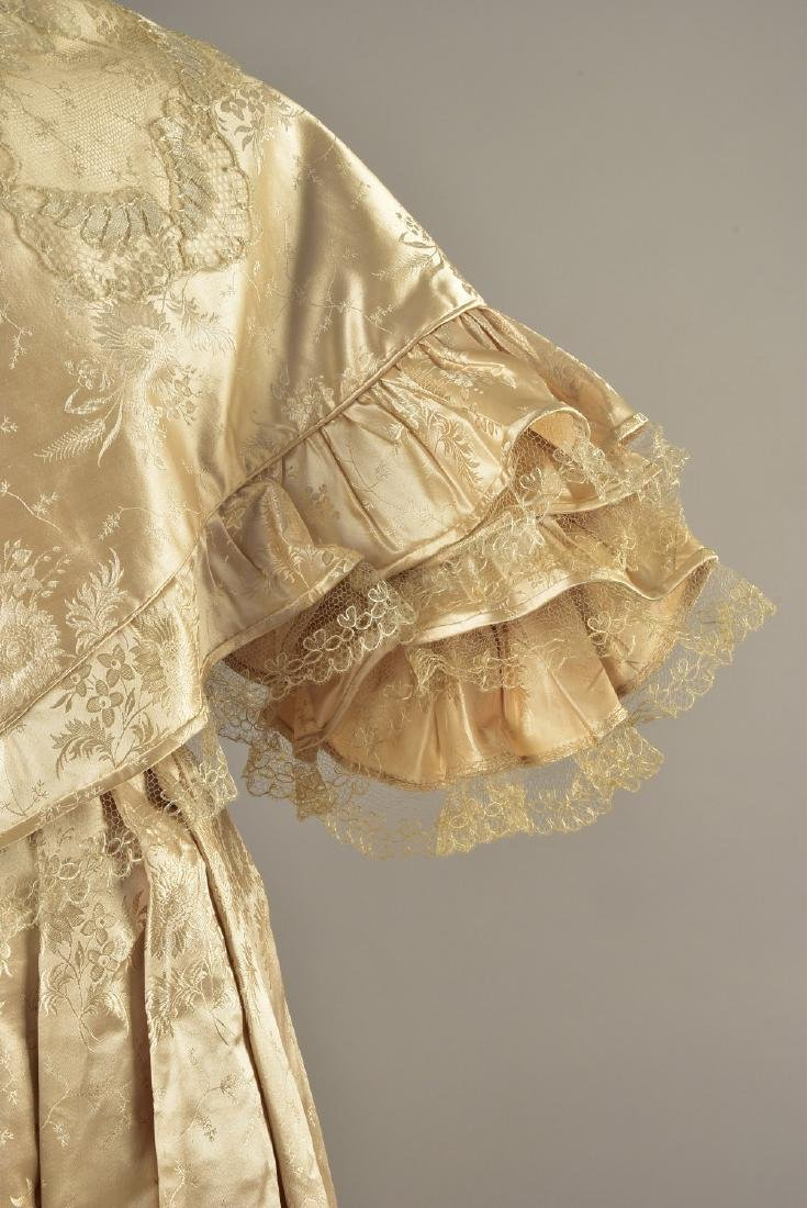 LADY JANE ERSKINE'S SILK WEDDING GOWN and PELLERINE, c. - 3