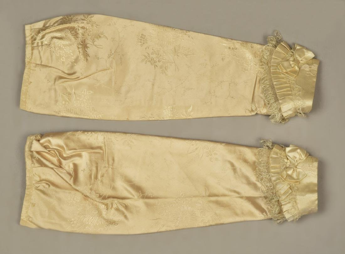 LADY JANE ERSKINE'S SILK WEDDING GOWN and PELLERINE, c. - 5