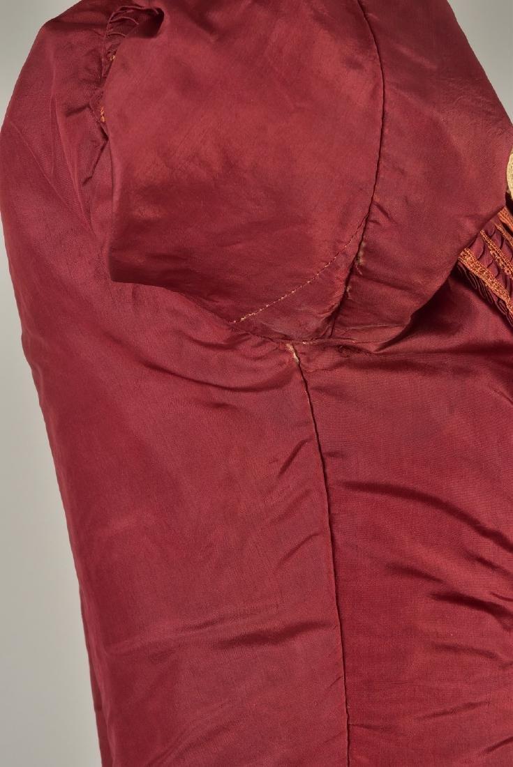 ENGLISH CLARET SILK DAY DRESS, 1845 - 4