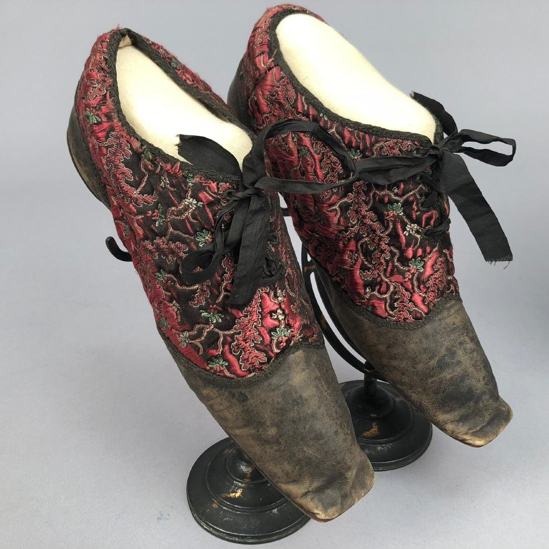TWO PAIR LADIES' LACING SHOES, 1840s - 2