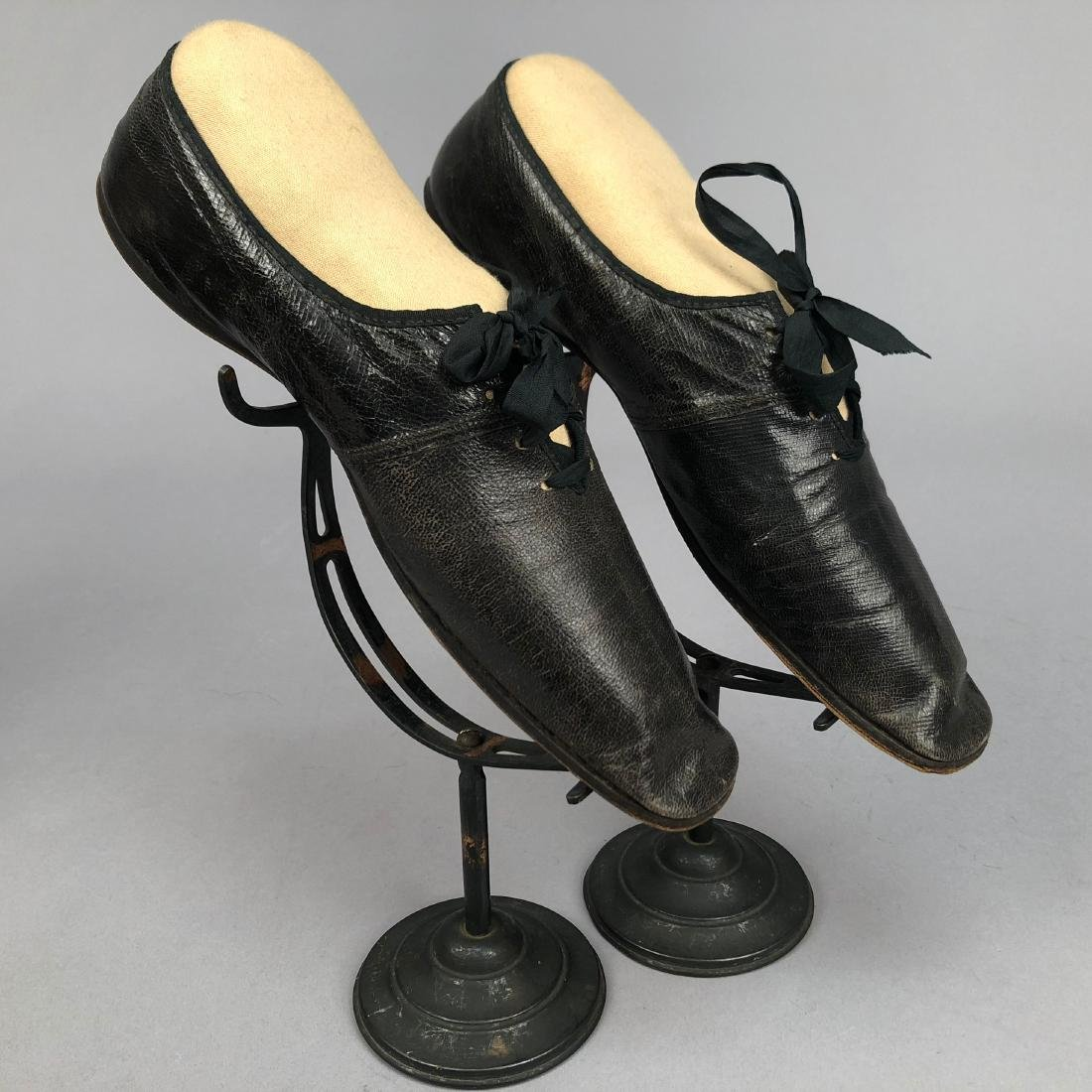 TWO PAIR LADIES' LACING SHOES, 1840s - 3