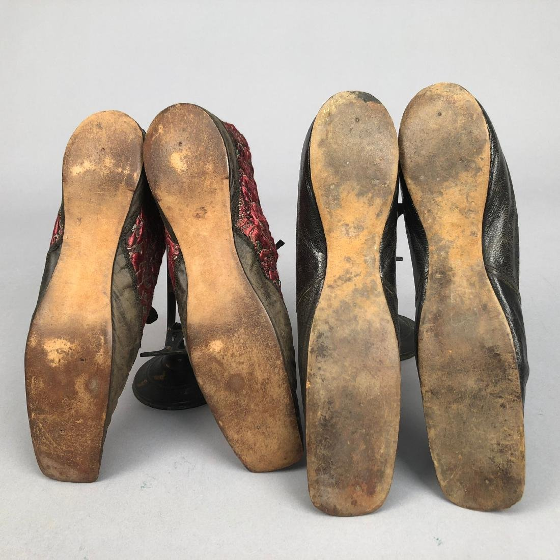 TWO PAIR LADIES' LACING SHOES, 1840s - 5