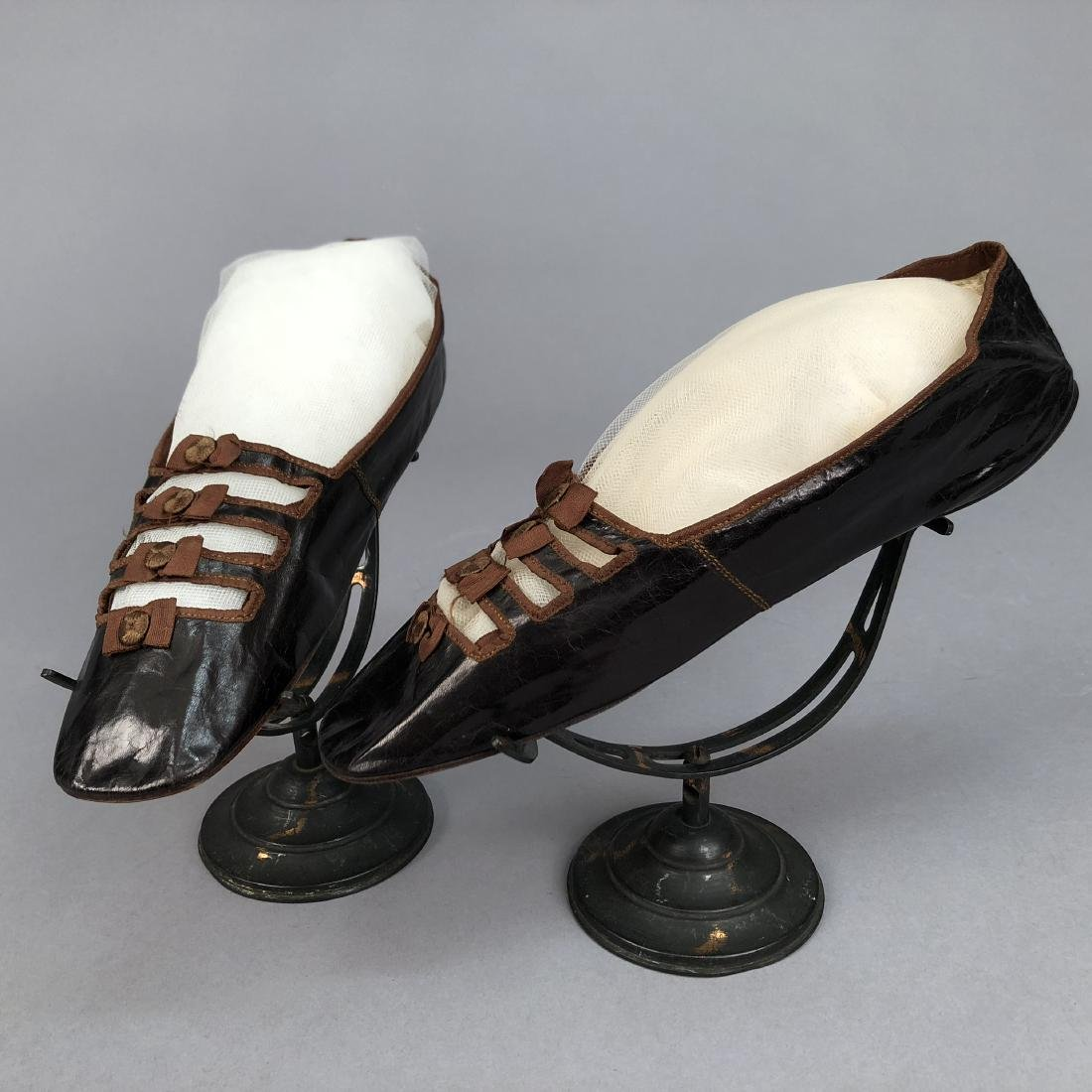 KID SHOES with BARETTE VAMP, 1840s - 1850s
