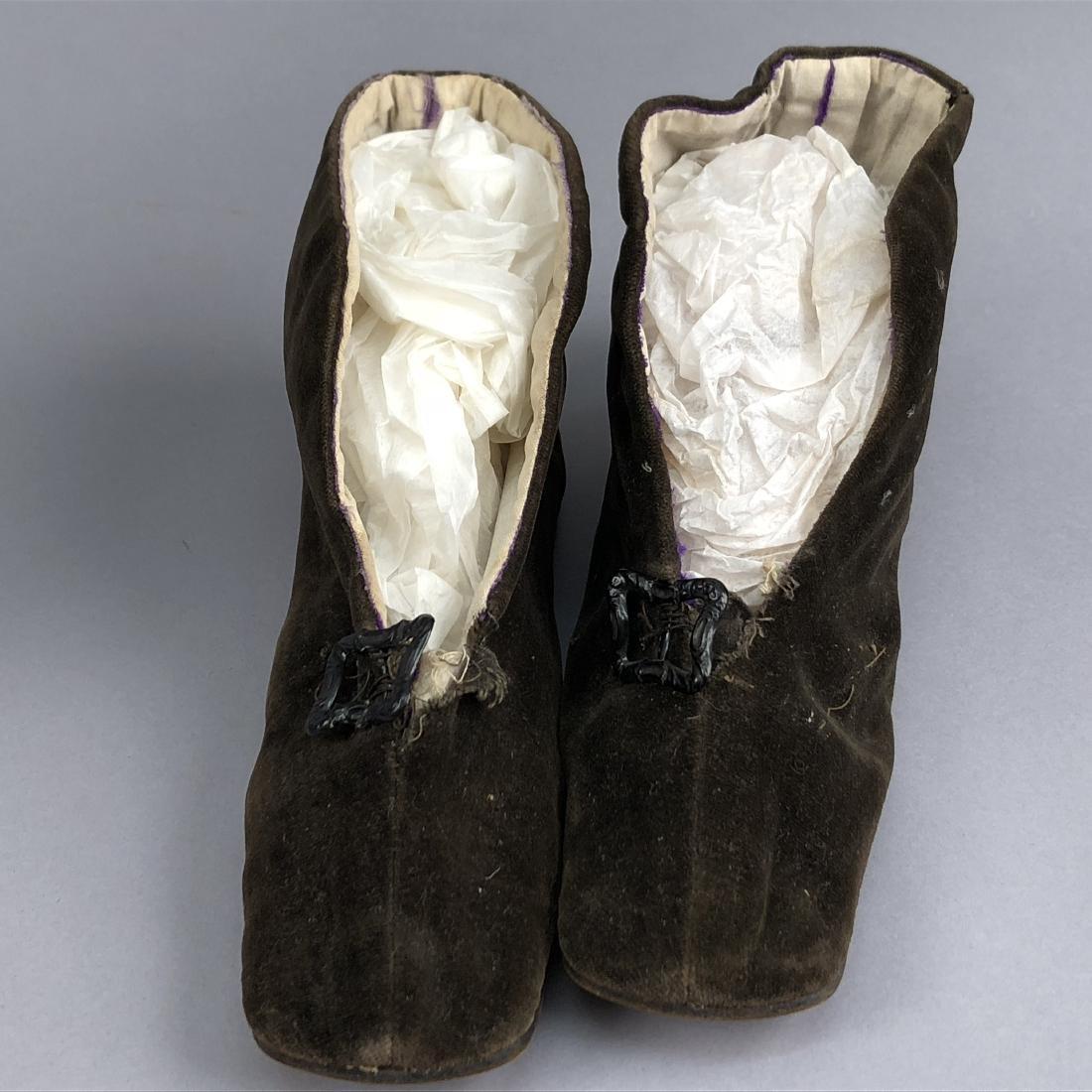 THREE PAIR WOMEN'S SLIPPERS, 1840s - 1850s - 2