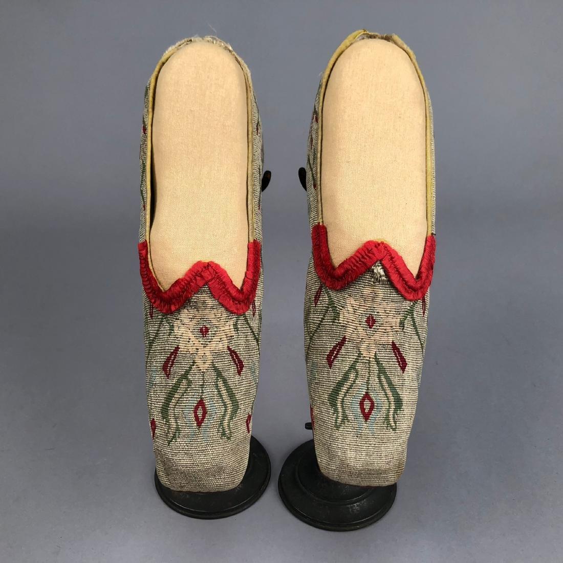 THREE PAIR WOMEN'S SLIPPERS, 1840s - 1850s - 3
