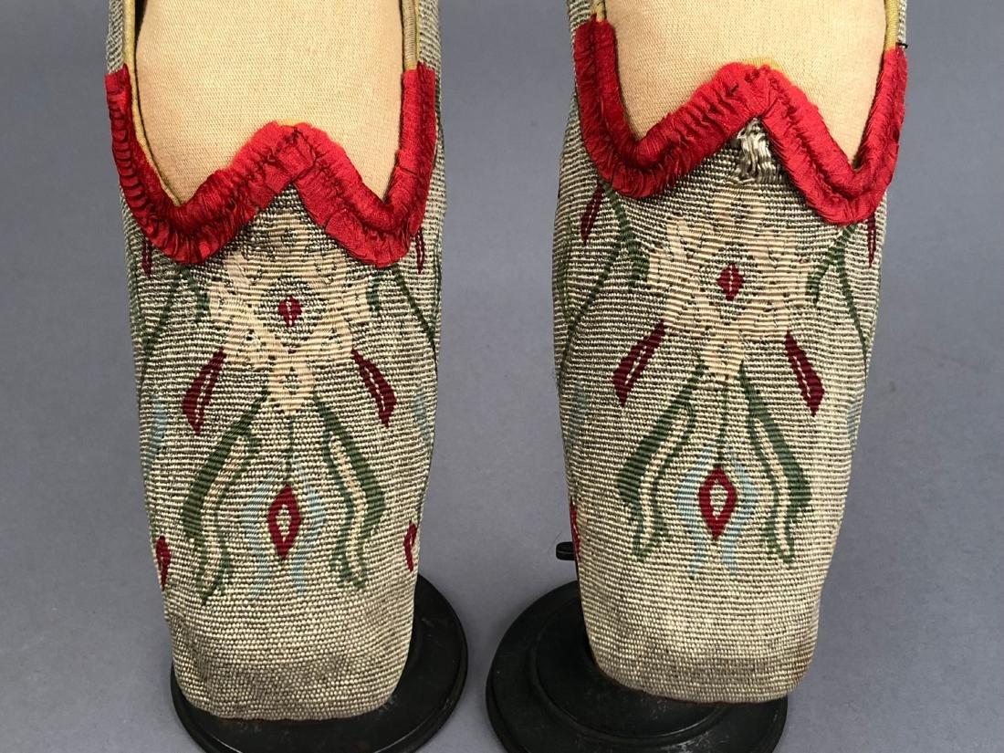 THREE PAIR WOMEN'S SLIPPERS, 1840s - 1850s - 4