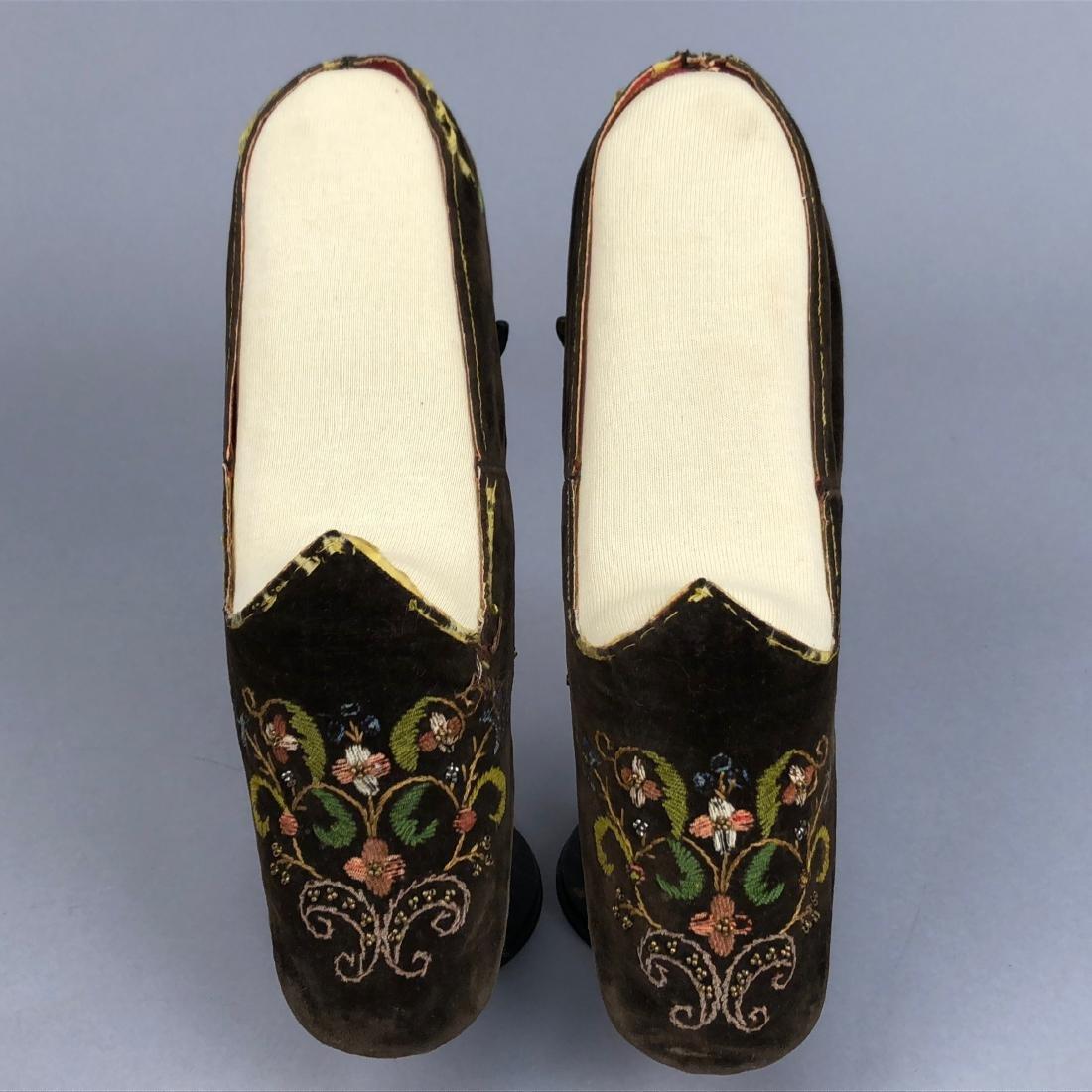THREE PAIR WOMEN'S SLIPPERS, 1840s - 1850s - 7