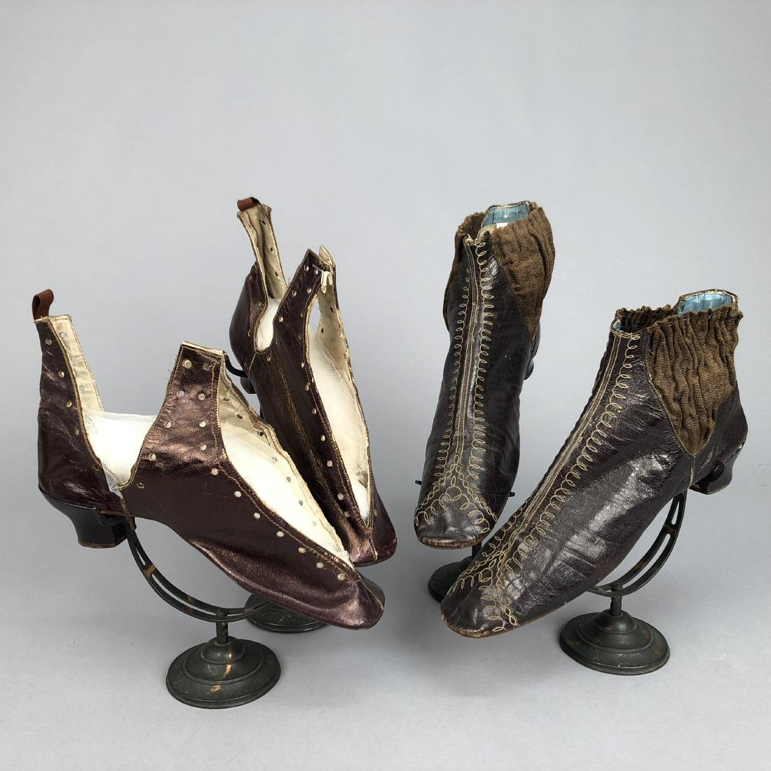 EMBROIDERED BOOTS with ELASTIC INSET, 1850s - 3