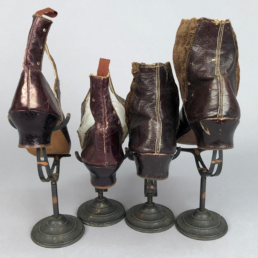 EMBROIDERED BOOTS with ELASTIC INSET, 1850s - 4