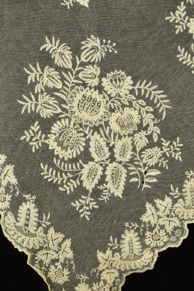 THREE EMBROIDERED NET STOLES, 1800 - 1830 - 3