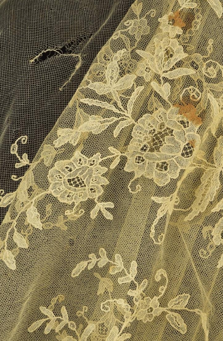 TWO LACE WEDDING VEILS,  1810 - 1820s - 3