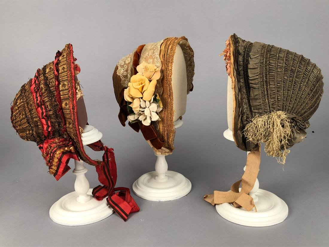 THREE BONNETS, 1848 -  1860s