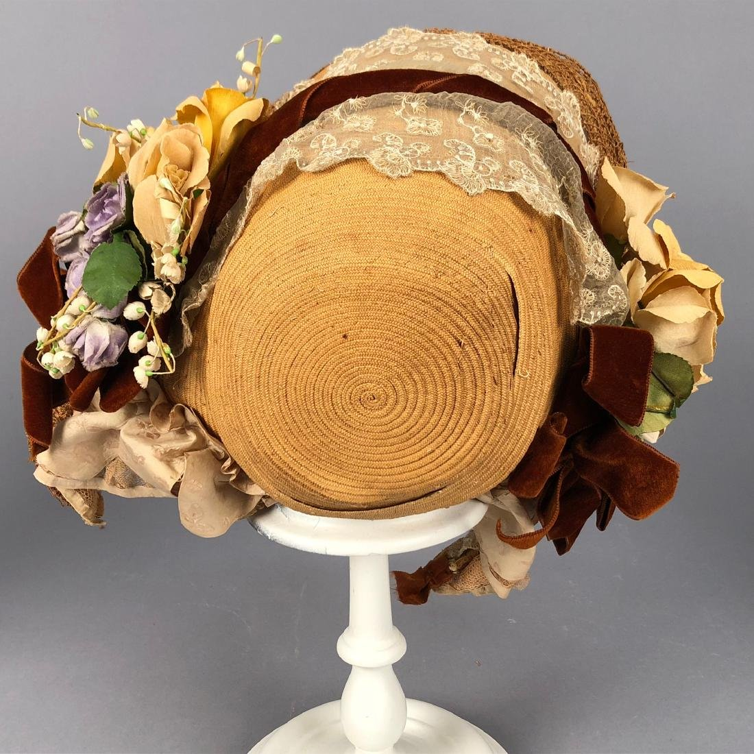 THREE BONNETS, 1848 -  1860s - 3