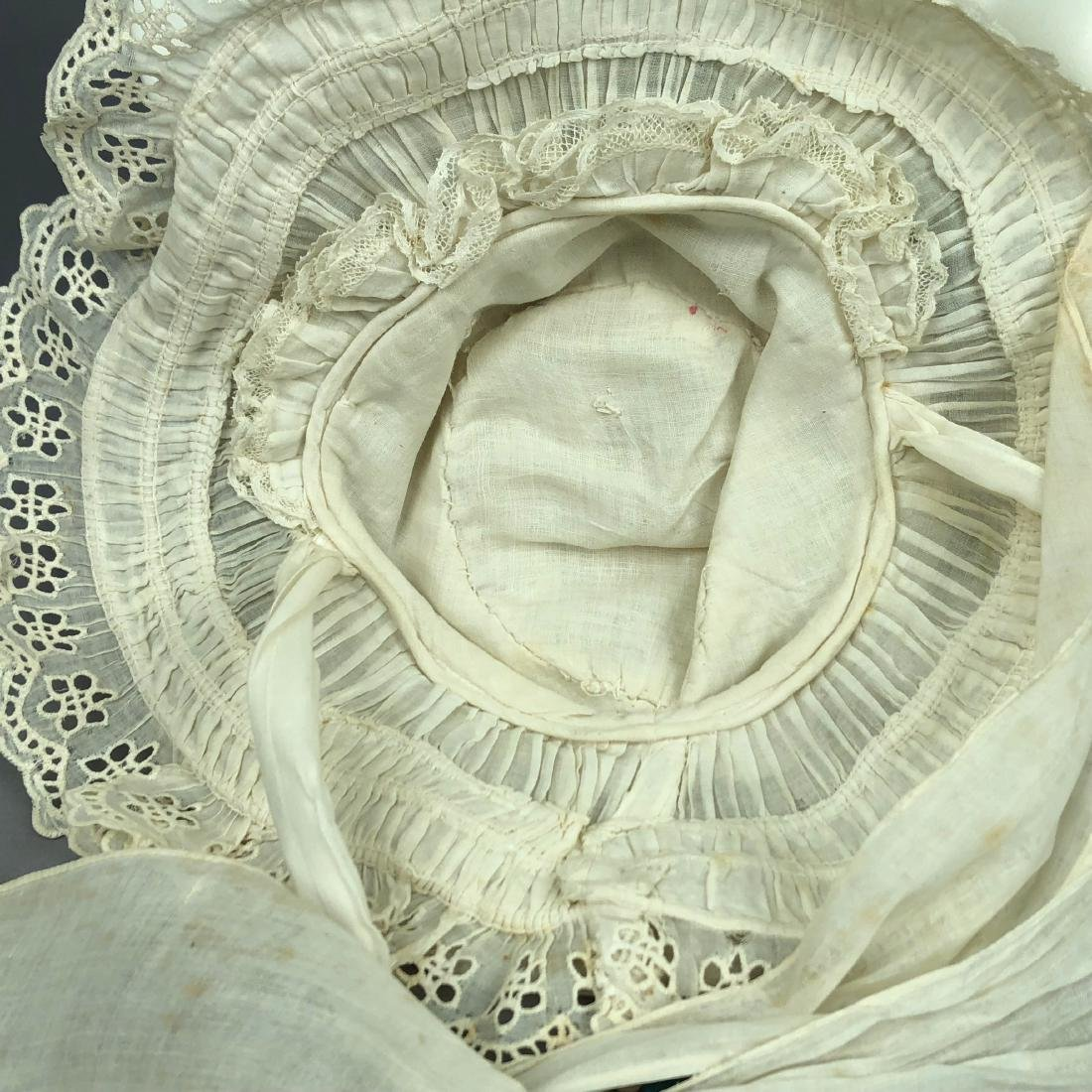 TAN STRAW LADY'S BONNET and GIRL'S HAT, 1850 - 1855 - 7