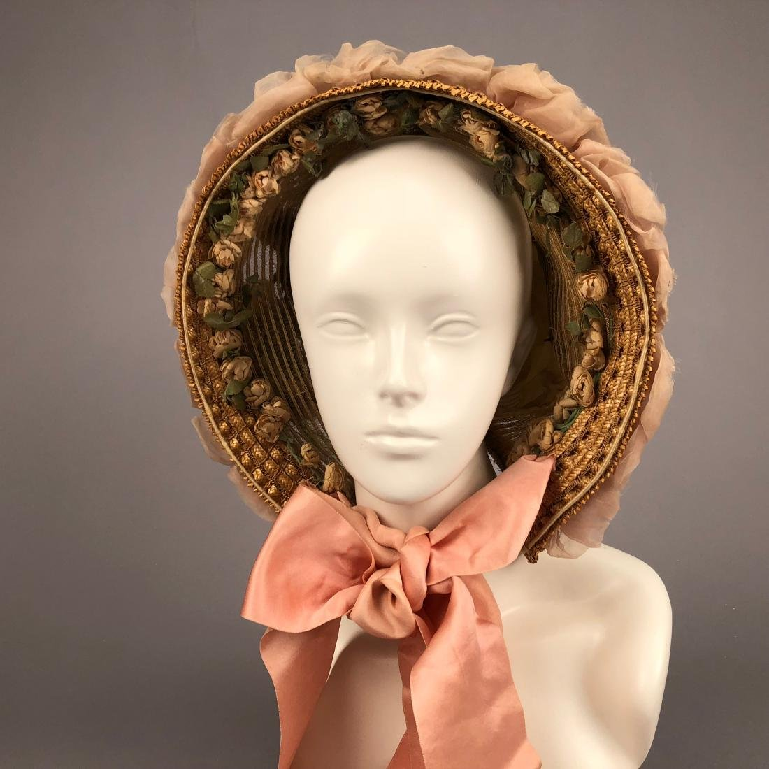 TWO BONNETS with HORSEHAIR, 1860, 1863 - 2